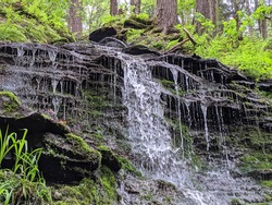 Bridal Falls at Allegany State Park in NY