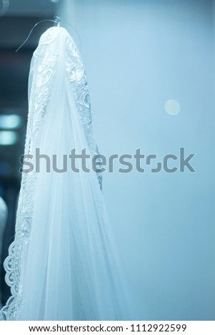 ea92ff5f7d3e Bridal shop dummy bride mannequin in department store with white wedding  dress. #1112922599