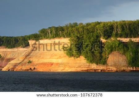 Bridal Veil Falls at Pictured Rocks National Lakeshore in the Upper Peninsula of Michigan