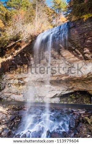 Bridal Veil Falls, autumn, western nc.