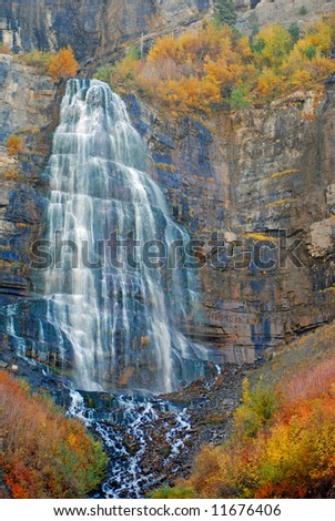 Bridal Veil Falls in Provo Canyon, Utah.