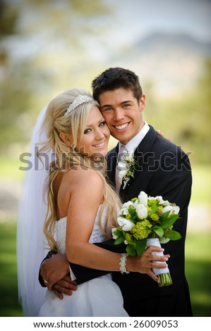 stock photo : Bride and groom
