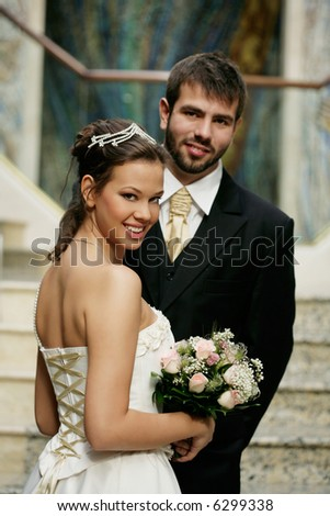 bride and groom at the wedding