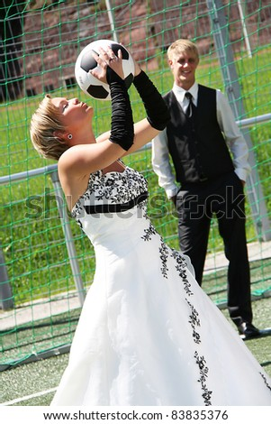 Bride and Groom in love on wedding day