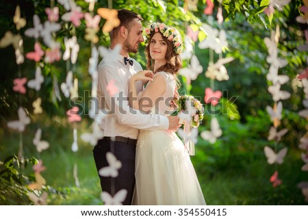 Shutterstock Bride and groom on their wedding day