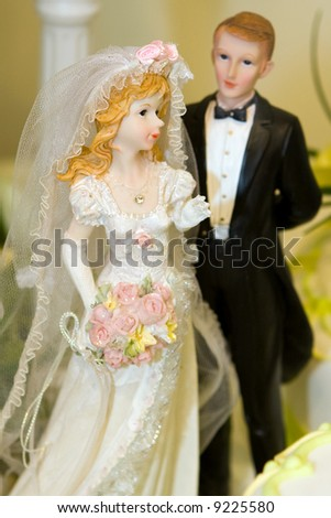 stock photo Bride and Groom Wedding Cake Ornament