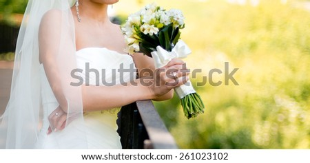 bride and wedding bouquet #261023102