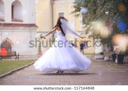bride at a wedding in a white dress