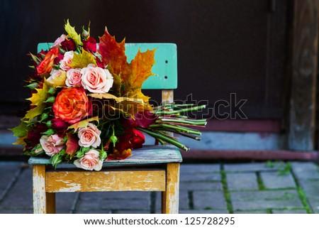 bride flowers - stock photo