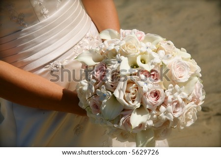 bride , ocean, flowers, beach, sand, ring, wedding, gown
