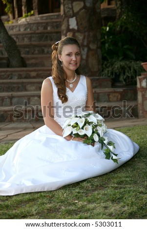 bride on grass