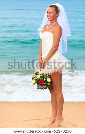 Bride on the tropical beach