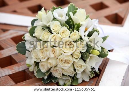 Bride's bouquet - stock photo