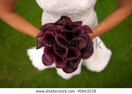 Bride\'s bouquet from above