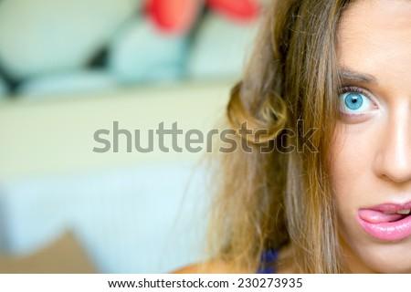 Brides makeup or visage  for wedding ceremony