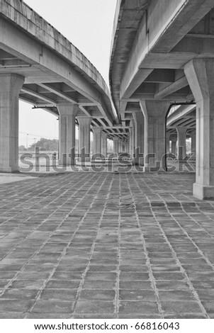 Bridge across the Highway,Bangkok ,Thailand