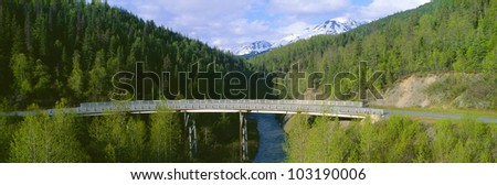 Bridge along Seward Highway at Kenai Peninsula, Alaska