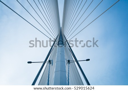 Bridge and blue sky #529015624