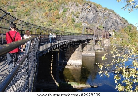 Bridge at Harpers Ferry in West Virginia, USA