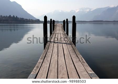 Bridge at Lac Leman, Switzerland