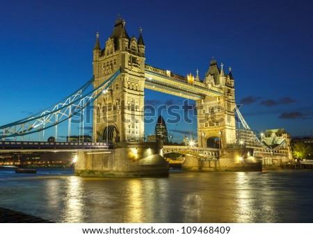 Bridge at night, London, UK