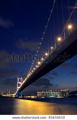 bridge at night, Tsing ma bridge