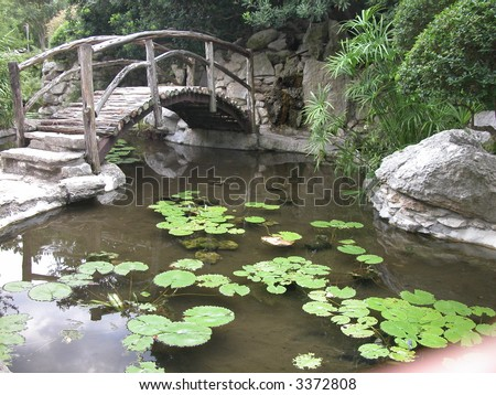 Bridge At The Taniguchi Japanese Garden In Zilker Park Austin ...