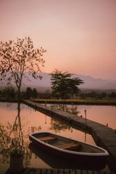 bridge boat lake