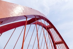 Bridge building structure in sky background