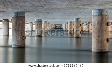Bridge concrete pilars in Stockholm Foto stock ©