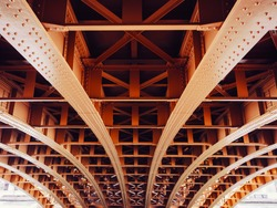 Bridge construction Metal sheet structure pattern Architecture details