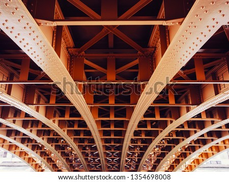 Bridge construction Metal sheet structure pattern Architecture details #1354698008
