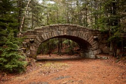 Bridge for carriage road in Acadia Nation Park