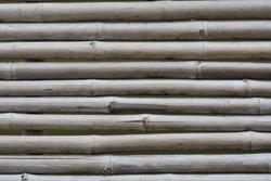 Bridge for corridors made of bamboo.bamboo texture background