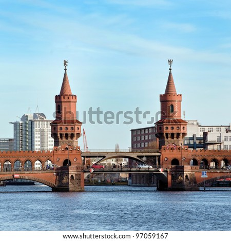 Bridge in Berlin - Kreusberg - Germany - stock photo