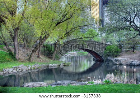 Bridge in Central Park, New York City,Manhattan,United states of  America
