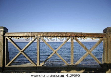bridge in dahab, red sea, sinai, egypt