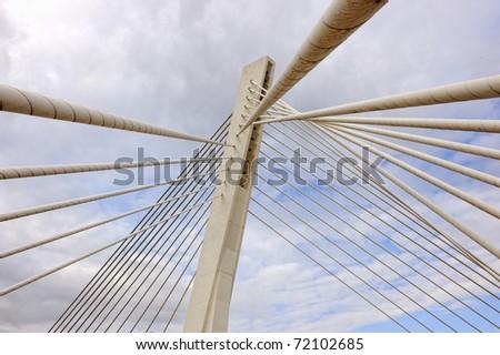Bridge in modern architecture style, Podgorica, Montenegro #72102685