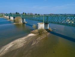 Bridge in Sully-Sur-Loire, Loiret, Centre-Val de Loire, France