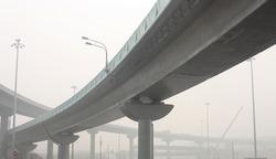 Bridge in the fog.