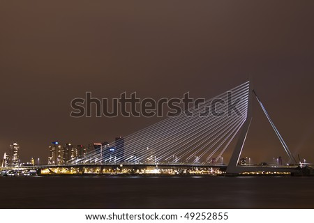 Bridge in the night - stock photo