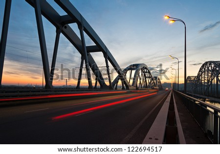 Bridge in twilight