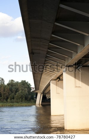 bridge in Warsaw closeup