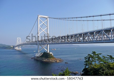 Bridge leading from shikoku to awaji, Japan