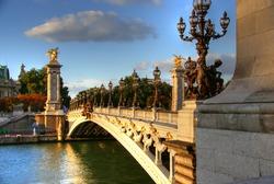 Bridge of Alexandre III in Paris  HDR