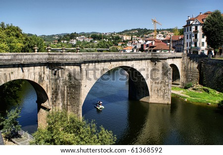 Bridge of Amarante over Tamega river, north of Portugal
