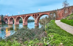 Bridge of August 22, 1944 across Tarn river in Albi. Albi is a commune in southern France in 85 km northeast of Toulouse.