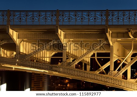 Bridge of Deusto, Bilbao, Bizkaia, Basque Country, Spain