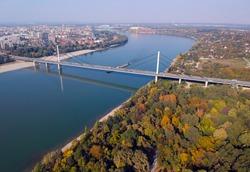 bridge of freedon in Danube river