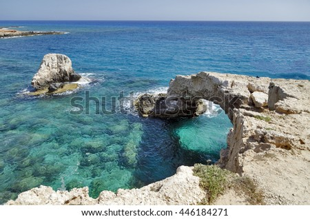 Bridge of love in Ayia Napa, Cyprus